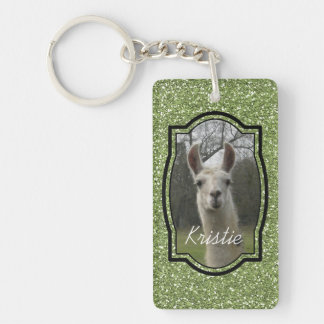 Bright N Sparkling Llama in Green Key Ring