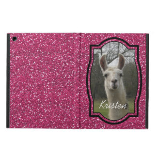 Bright N Sparkling Llama in Hot Pink Cover For iPad Air