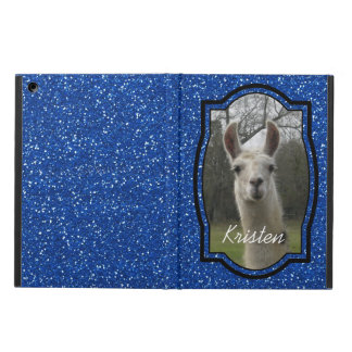 Bright N Sparkling Llama in Royal Blue iPad Air Cover