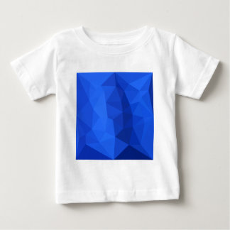 Bright Navy Blue Abstract Low Polygon Background Baby T-Shirt