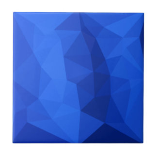 Bright Navy Blue Abstract Low Polygon Background Small Square Tile