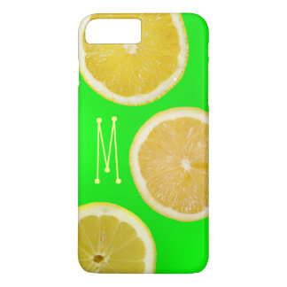 Bright Neon Fluorescent Green Yellow Lemons iPhone iPhone 8 Plus/7 Plus Case