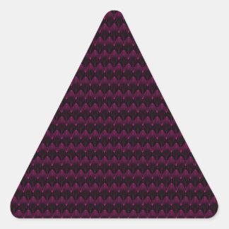 Bright Neon Pink Alien Head Pattern Triangle Sticker