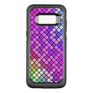 Bright Neon Squares Pattern OtterBox Commuter Samsung Galaxy S8 Case