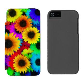 Bright Neon Sunflower Field Incipio Watson™ iPhone 5 Wallet Case