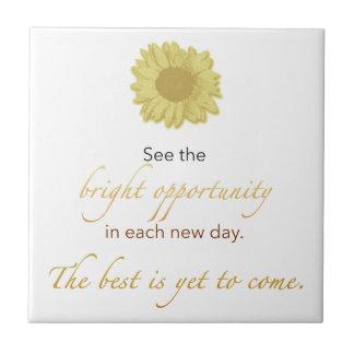 Bright New Day Tile, Coaster, or Trivet