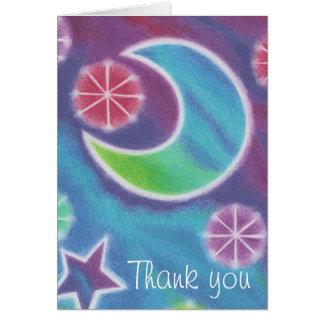 Bright Night Moon 'Thank you' card