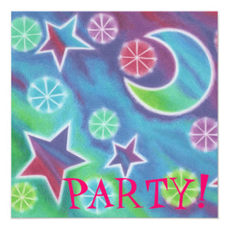 Bright Night party invitation