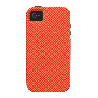 Bright Orange and Red Mini Polka Dots Pattern iPhone 4/4S Case