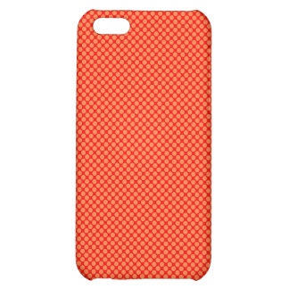 Bright Orange and Red Mini Polka Dots Pattern iPhone 5C Case