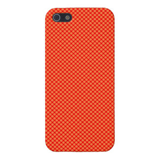 Bright Orange and Red Mini Polka Dots Pattern Cases For iPhone 5