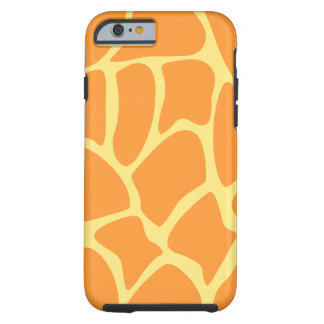 Bright Orange and Yellow Giraffe Pattern. Tough iPhone 6 Case