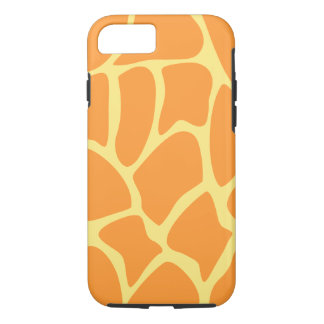 Bright Orange and Yellow Giraffe Pattern. iPhone 7 Case