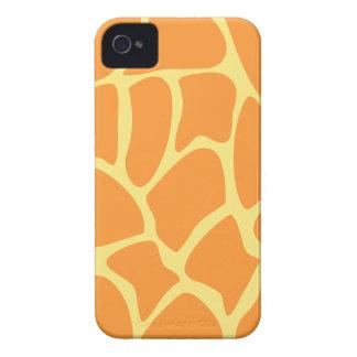Bright Orange and Yellow Giraffe Print Pattern. Case-Mate Blackberry Case