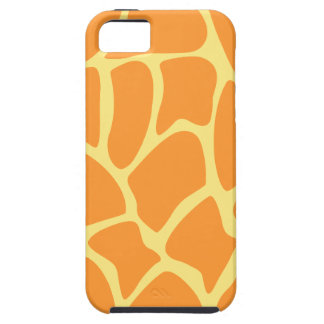 Bright Orange and Yellow Giraffe Print Pattern. iPhone 5 Case