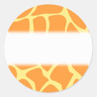 Bright Orange and Yellow Giraffe Print Pattern Stickers