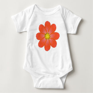 Bright Orange Baby Flower Baby Bodysuit