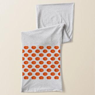 Bright Orange Basketball Pattern Scarf