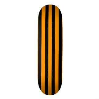 Bright Orange & Black Stripe Skateboard Deck