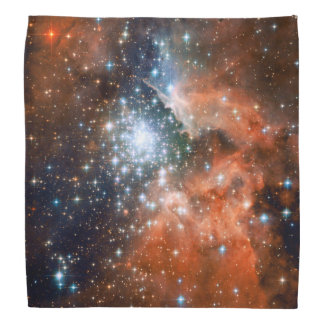 Bright Orange & Blue Galaxy Trendy Nebula Do-rags
