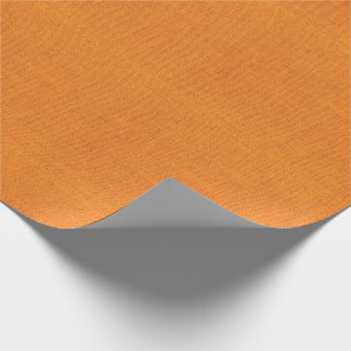 Bright Orange Burlap Texture Wrapping Paper