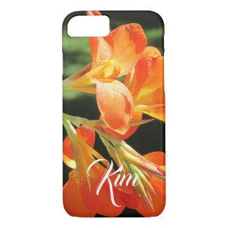 Bright Orange Canna Lily iPhone 8/7 Case
