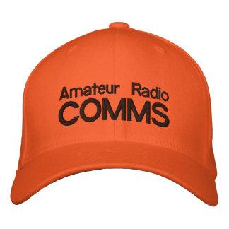 Bright Orange cap for Amateur Radio Comms Embroidered Cap