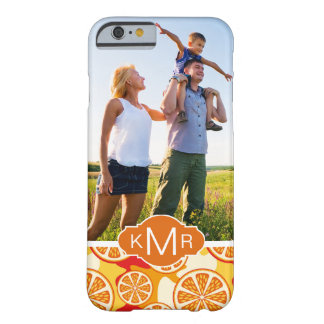 Bright Orange Citrus Pattern | Add Your Photo Barely There iPhone 6 Case