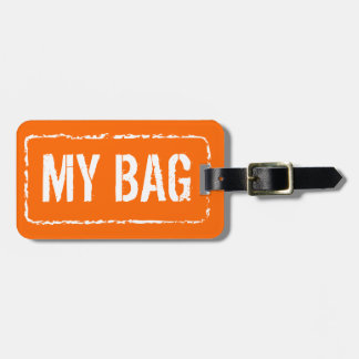 Bright orange color travel luggage tag | Customize