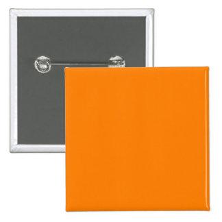 bright orange DIY custom background template 15 Cm Square Badge