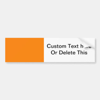 bright orange DIY custom background template Bumper Sticker