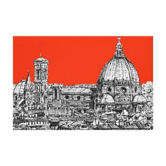 Bright orange Florence Gallery Wrap Canvas