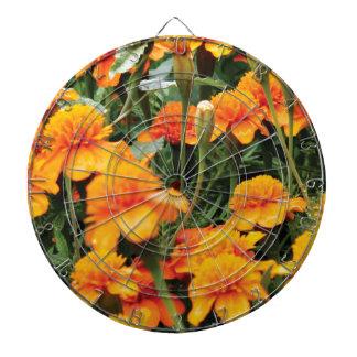 bright orange flowers dartboard