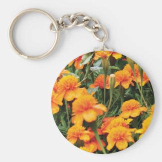 bright orange flowers key ring