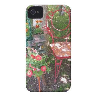 Bright orange garden chair iPhone 4 Case-Mate cases