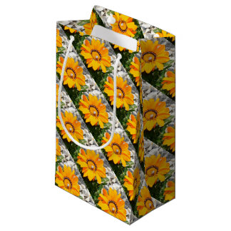 Bright Orange Gazania Flower with Snail Small Gift Bag