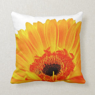 Bright Orange Gerbera Pillow