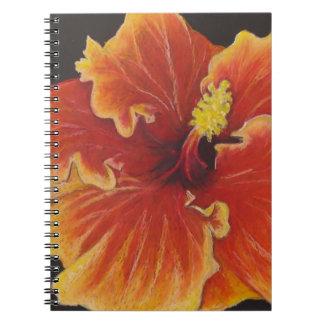 Bright Orange Hibiscus Notebook