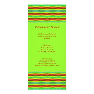 bright orange lime green customized rack card