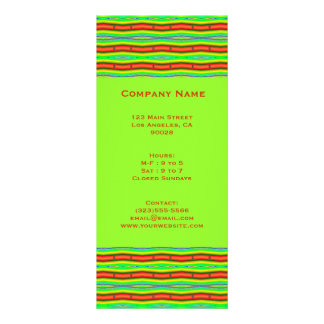bright orange lime green rack card template
