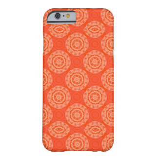 Bright Orange Pattern with Floral Circle Pattern Barely There iPhone 6 Case