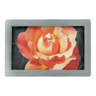 Bright orange rose belt buckle