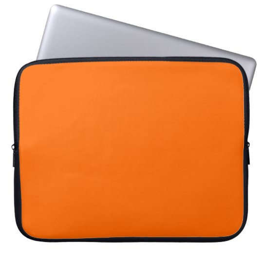 Bright Orange  Solid Colour Laptop Sleeve