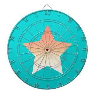 Bright orange star on blue. dartboard