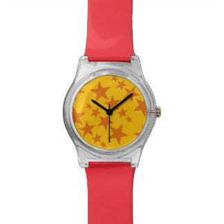 Bright Orange Stars Watch