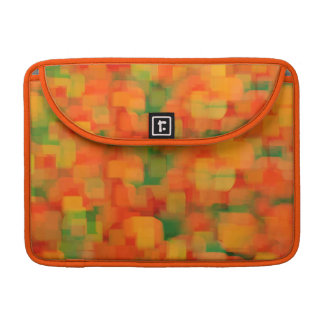 Bright Orange Yellow Abstract Pattern Sleeve For MacBooks