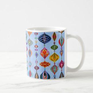 Bright ornamental basic white mug