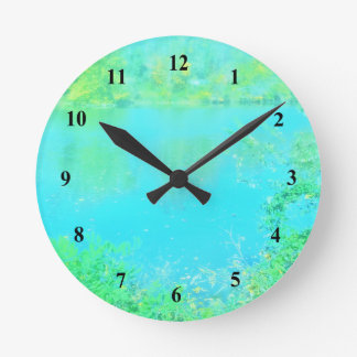 Bright Other worldly Serene Nature Scene Clocks