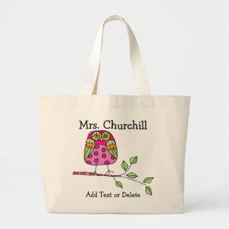 Bright Owl Teacher - SRF Tote Bags