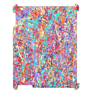 Bright Paint Splatter Abstract Cover For The iPad